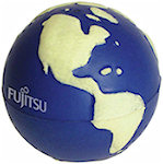 Glow in the Dark Globe Stress Balls